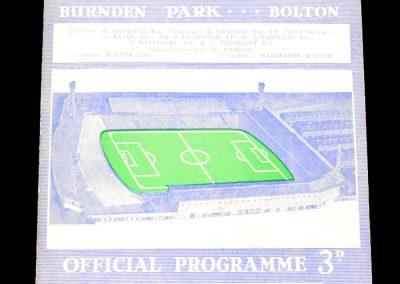 Bolton Wanderers v Bath City 08.01.1964 | FA Cup 3rd Round