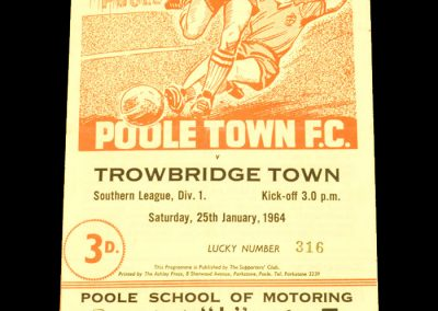 Poole Town v Trowbridge Town 25.01.1964
