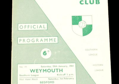 Yeovil Town v Weymouth 25.01.1964