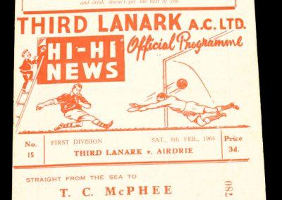 Third Lanark v Airdrie 08.02.1964