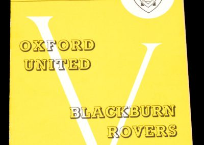 Oxford United v Blackburn Rovers 15.02.1964 | FA Cup 5th Round
