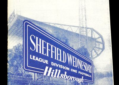 Sheffield Wednesday v Blackburn Rovers 28.03.1964