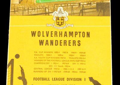Wolverhampton Wanderers v Manchester United 02.11.1963