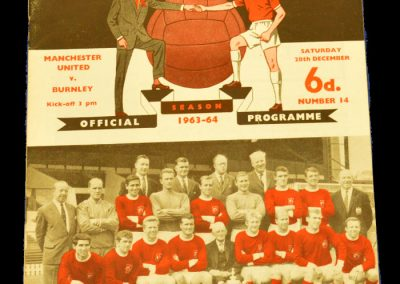 Manchester United v Burnley 28.12.1963
