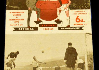 Manchester United v Birmingham City 11.01.1964