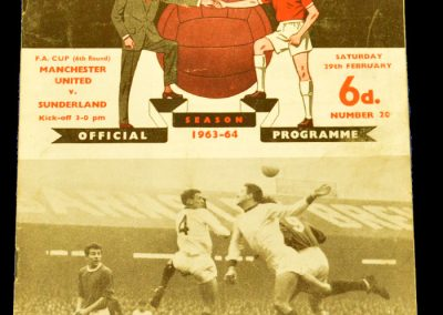 Sunderland v Manchester United 29.02.1964 | FA Cup 6th Round