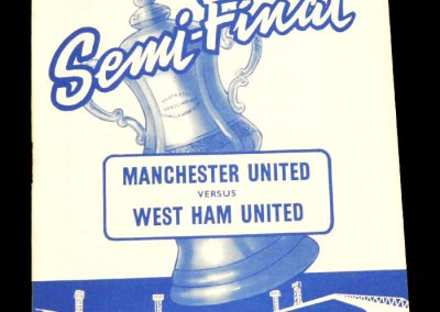 Manchester United v West Ham United 14.03.1964 | FA cup Semi-Final