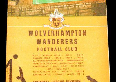 Wolverhampton Wanderers v Arsenal FC 29.08.1959
