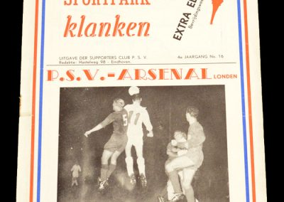 Eindhoven v Arsenal 23.09.1959