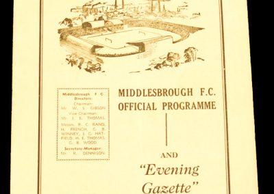 Huddersfield Town v Middlesbrough FC 07.11.1959