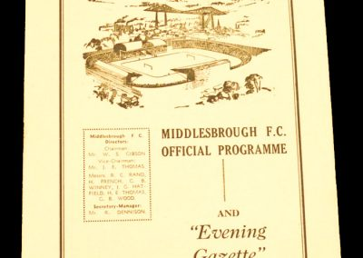 Brighton and Hove A v Middlesbrough FC 05.12.1959