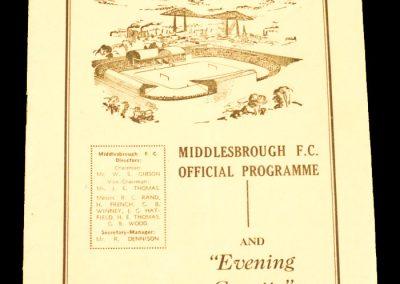 Bristol City v Middlesbrough FC 13.02.1960