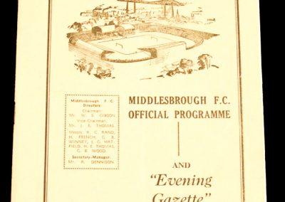 Aston Villa v Middlesbrough FC 05.03.1960