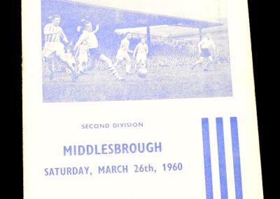 Huddersfield Town v Middlesbrough 26.03.1960