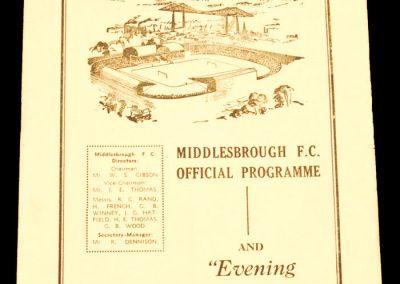 Sheffield United v Middlesbrough FC 18.04.1960