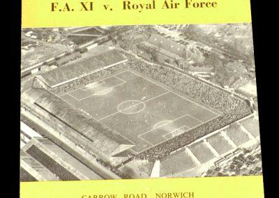FA XI v Royal Air Force 07.10.1959
