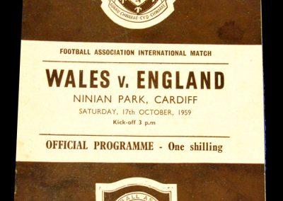 Wales v England 17.10.1959 | British championships
