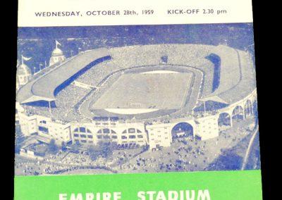 England v Sweden 28.10.1959 | International Friendly