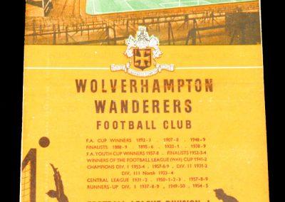 Wolverhampton Wanderers v Birmingham City 19.12.1959