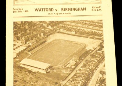 Watford v Birmingham City 09.01.1960