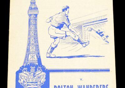 Blackpool v Bolton Wanderers 22.08.1959