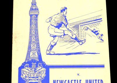 Blackpool v Newcastle United 14.11.1959