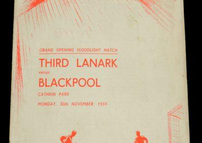 Third Lanark v Blackpool 30.11.1959