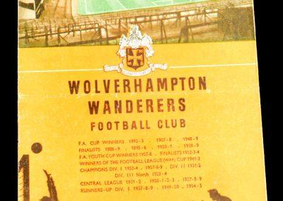 Wolverhampton Wanderers v Blackpool 06.02.1960