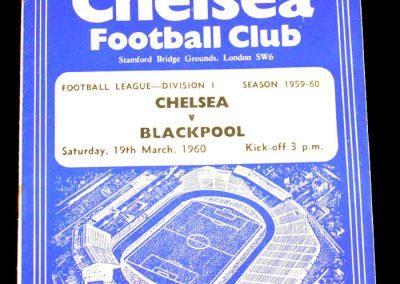 Chelsea v Blackpool 19.03.1960