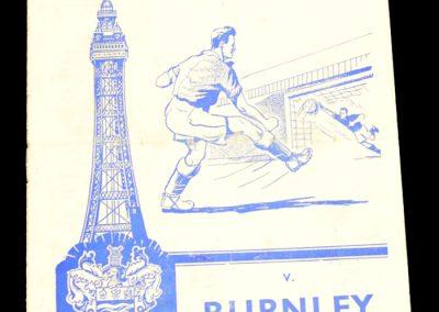 Blackpool v Burnley 23.04.1960