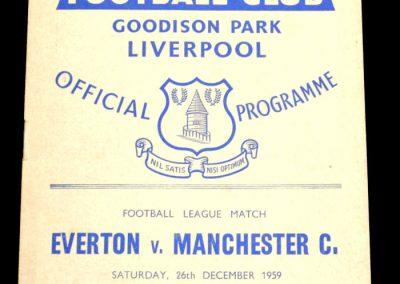 Everton v Manchester City 26.12.1959