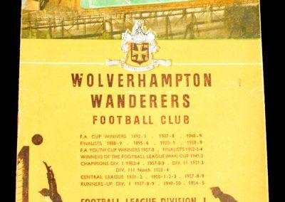 Wolverhampton Wanderers v Manchester City 16.01.1960