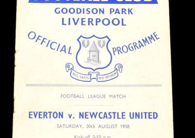 Everton v Newcastle United 30.08.1958