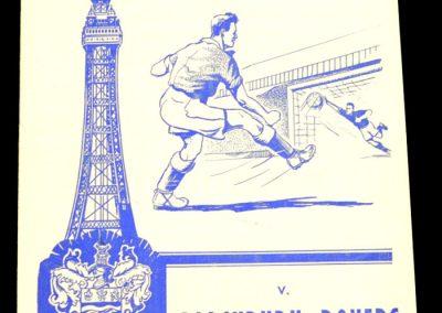 Blackpool v Blackburn 08.09.1958