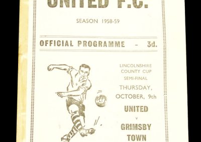 Scunthorpe United FC v Grimsby Town 09.10.1958