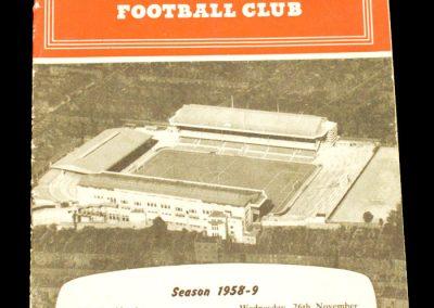Arsenal v Juventus 26.11.1958
