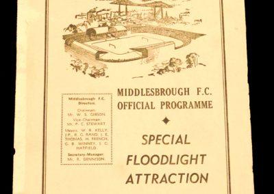 Middlesbrough v Nimes 03.12.1958
