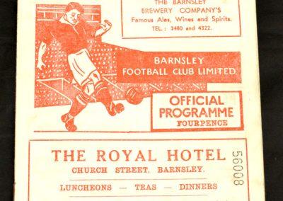 Barnsley v Middlesbrough 27.12.1958