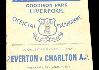 Everton v Charlton 28.01.1959 | FA Cup 4th Round