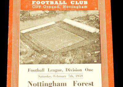 Nottingham Forest v Bolton Wanderers 07.02.1959