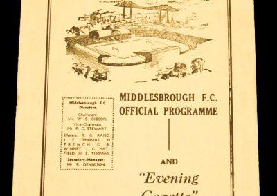 Middlesbrough FC v 1st Vienna 16.02.1959