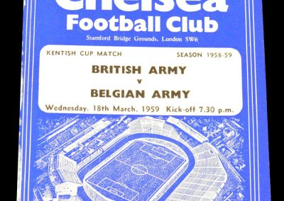 British Army v Belgian Army 18.03.1959 | Kentish Cup