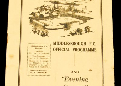 Middlesbrough FC v Swansea Town 21.03.1959