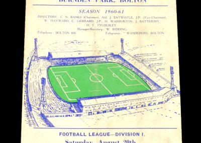 Bolton Wanderers v Birmingham City 20.08.1960
