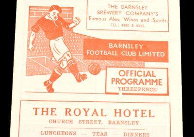 Barnsley v Middlesborough 25.08.1956