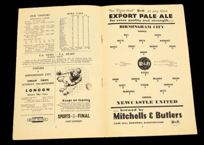 Birmingham City v Newcastle United 05.09.1956