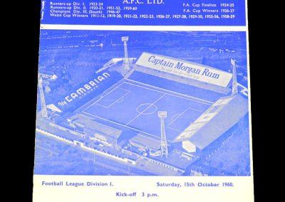 Cardiff City v Bolton Wanderers 15.10.1960