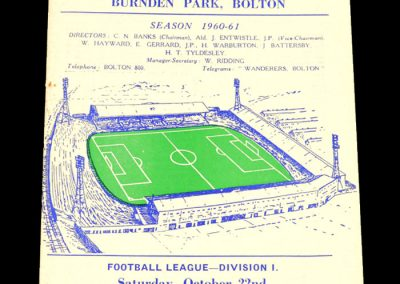 Bolton Wanderers v Fulham 22.10.1960