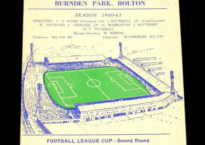 Bolton Wanderers v Grimsby Town 26.10.1960