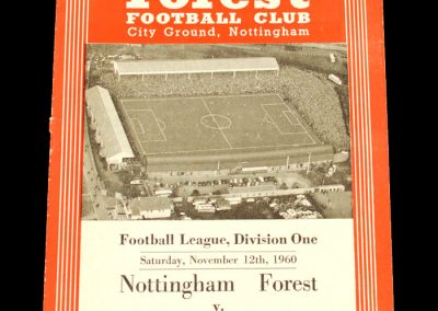 Nottingham Forest v Bolton Wanderers 12.11.1960
